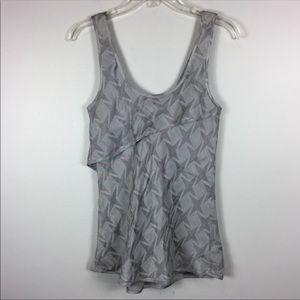 Giorgio Armani Silk Linen Star Print Layered Top